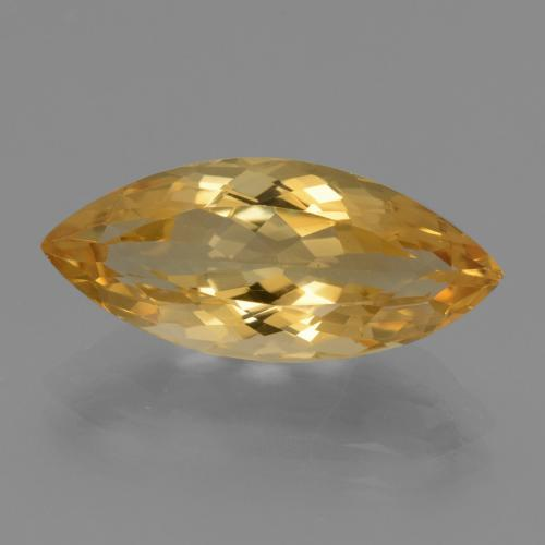 Deep Golden Orange Citrine Gem - 5.4ct Marquise Facet (ID: 450788)