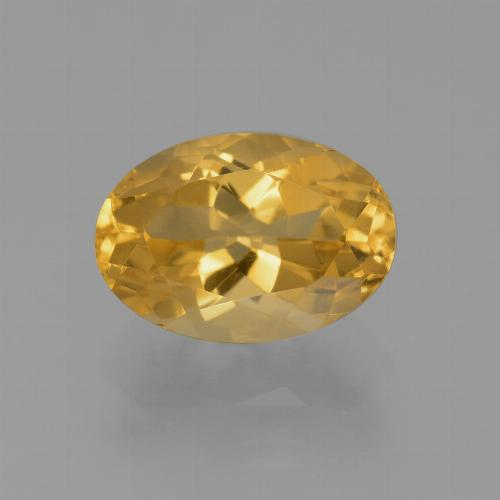 Medium-Dark Golden Citrina Gema - 2.6ct Forma ovalada (ID: 453633)