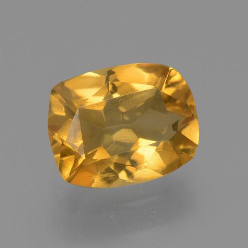Deep Orange-Gold Citrina Gema - 1.5ct Corte en Forma Cojín (ID: 453713)