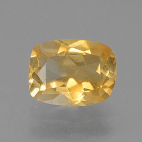 Golden Orange Citrine Gem - 2ct Cushion-Cut (ID: 453714)