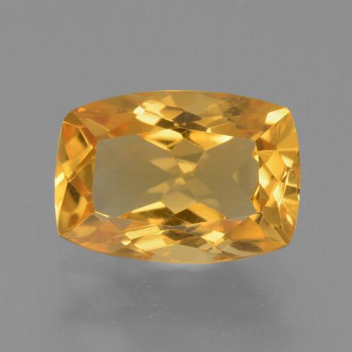 Orange-Gold Citrina Gema - 2.8ct Corte en Forma Cojín (ID: 453715)