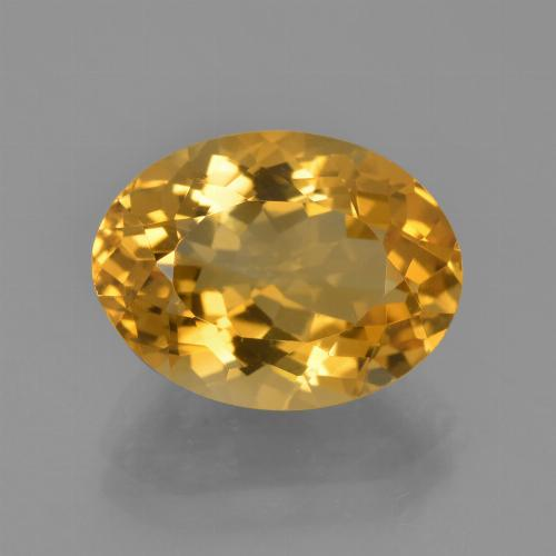 Medium-Light Orange-Gold Citrina Gema - 4.8ct Forma ovalada (ID: 453724)