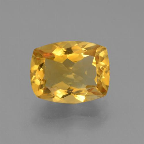 Dark Golden Citrine Gem - 3.5ct Cushion-Cut (ID: 453753)