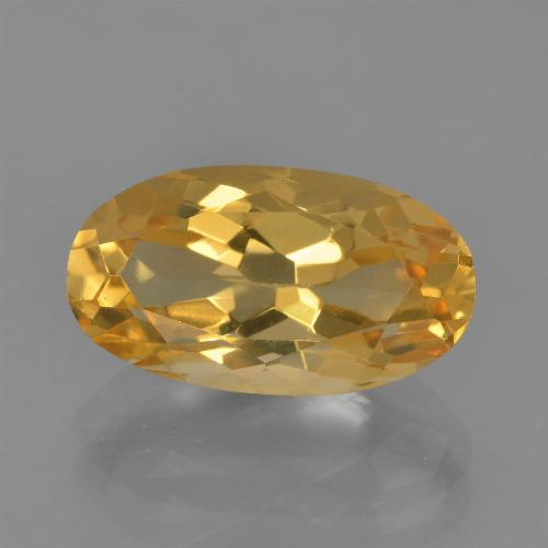 Deep Golden Orange Citrina Gema - 3.4ct Forma ovalada (ID: 453761)