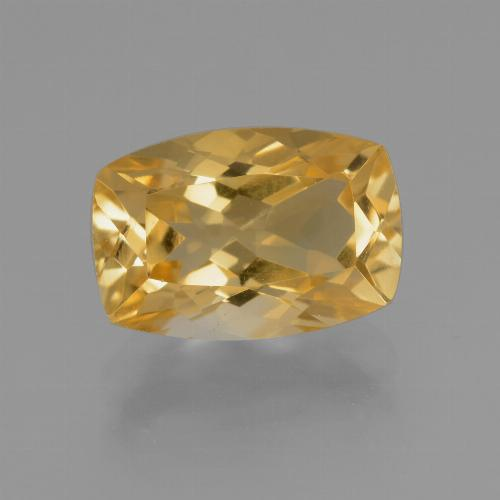 Deep Golden Orange Citrina Gema - 4.1ct Corte en Forma Cojín (ID: 453802)