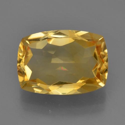 Deep Golden Orange Citrina Gema - 4.5ct Corte en Forma Cojín (ID: 453817)