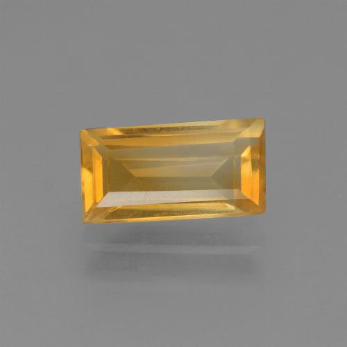 Orange-Gold Citrina Gema - 1.6ct Faceta en Estilo Baguette (ID: 454657)