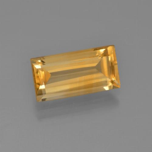 Medium Orange Citrina Gema - 2.9ct Faceta en Estilo Baguette (ID: 454924)