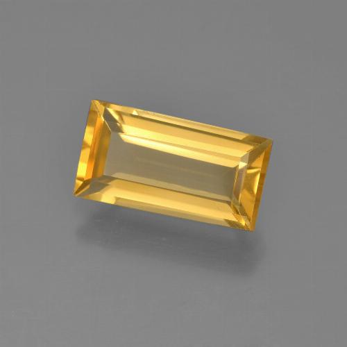 Medium Golden Citrina Gema - 2.3ct Faceta en Estilo Baguette (ID: 454934)