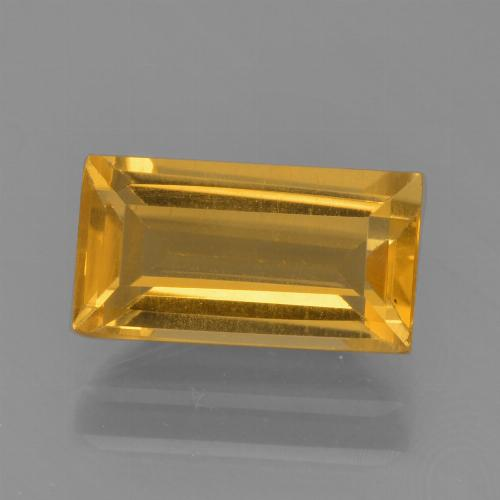 Dark Golden Цитрин Камень - 1.8ct Фасетная Огранка Багет (ID: 455387)