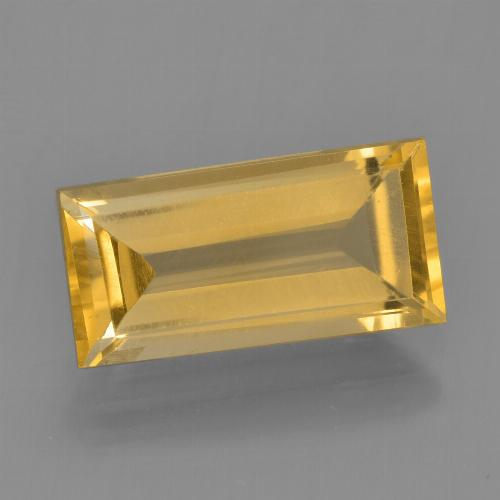 Bright Gold Citrina Gema - 2.5ct Faceta en Estilo Baguette (ID: 455778)