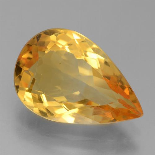 thumb image of 3.9ct Pear Facet Yellow Golden Citrine (ID: 456162)