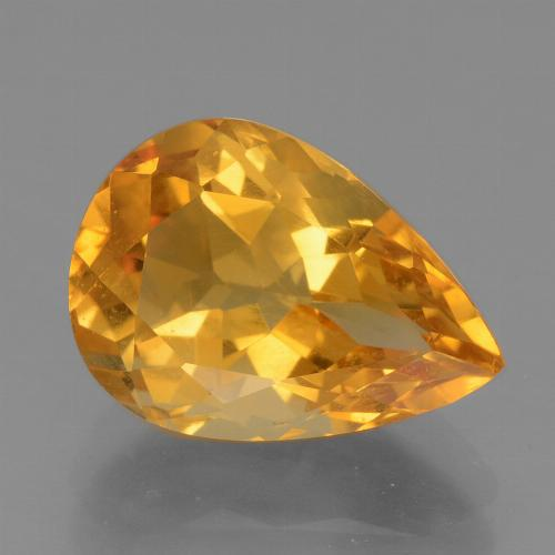 Dark Orange Citrina Gema - 3.7ct Corte en forma de pera (ID: 456211)