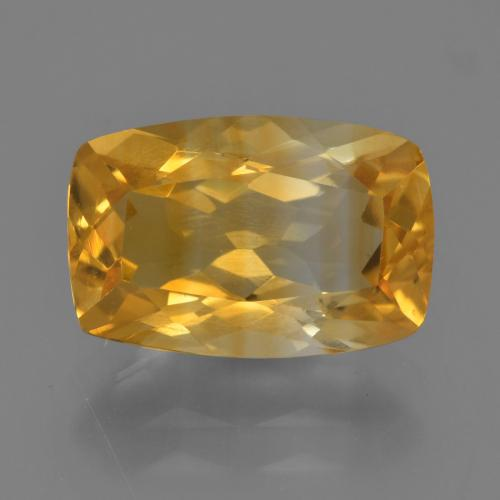 Medium-Dark Golden Citrine Gem - 3.2ct Cushion-Cut (ID: 456335)