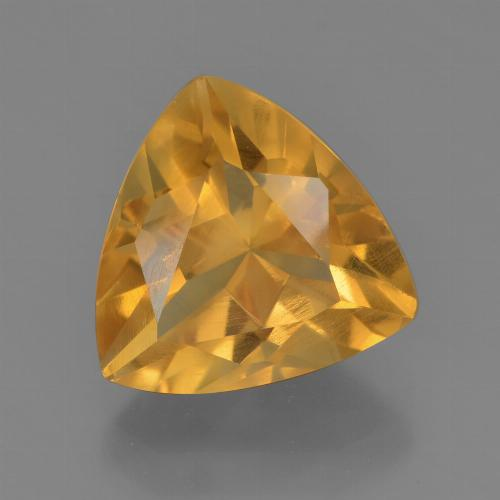 thumb image of 3.2ct Trillion Facet Yellow Golden Citrine (ID: 456380)