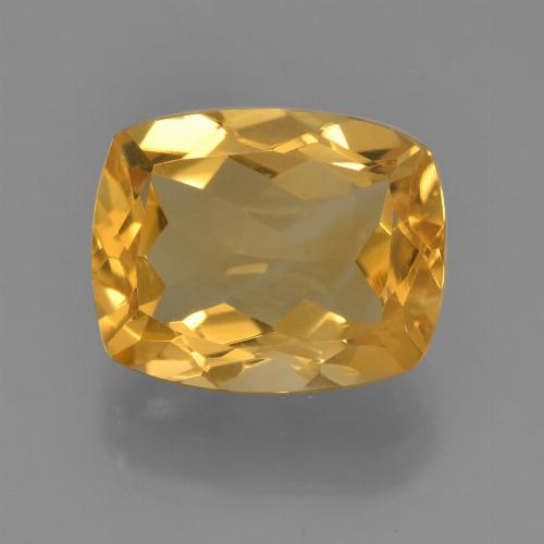 Deep Golden Orange Citrina Gema - 2.9ct Corte en Forma Cojín (ID: 456384)