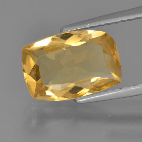 Medium-Dark Golden Citrina Gema - 2.5ct Corte en Forma Cojín (ID: 456385)