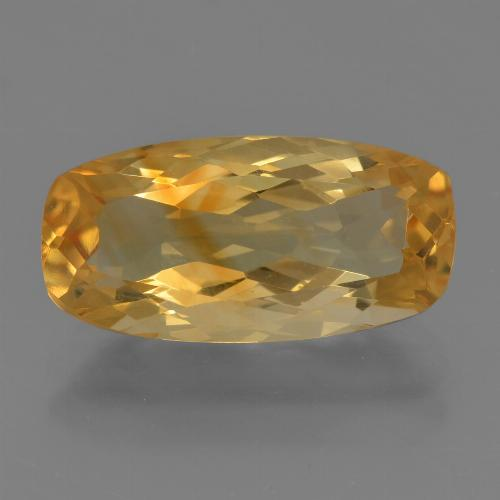 Medium-Dark Golden Citrina Gema - 4ct Corte en Forma Cojín (ID: 456386)