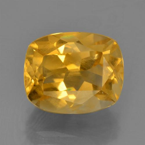 Dark Orange-Gold Citrina Gema - 2.8ct Corte en Forma Cojín (ID: 456506)