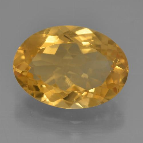 Dark Golden Citrina Gema - 4ct Forma ovalada (ID: 456548)