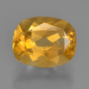 Dark Golden Citrine Gem - 2.7ct Cushion-Cut (ID: 456550)