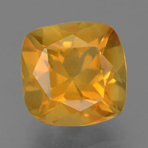 Deep Orange-Gold Citrina Gema - 1.9ct Corte en Forma Cojín (ID: 456719)