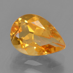 Orange-Gold Citrina Gema - 1.8ct Corte en forma de pera (ID: 457288)
