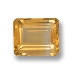 Medium-Light Orange-Gold Citrina Gema - 4.1ct Corte octagonal (ID: 459856)