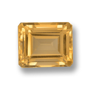 thumb image of 4.9ct Octagon Step Cut Yellow Golden Citrine (ID: 459883)