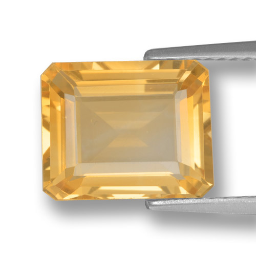 thumb image of 4ct Octagon Step Cut Yellow Golden Citrine (ID: 459886)
