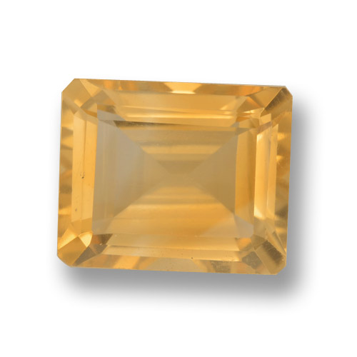 thumb image of 4.2ct Octagon Step Cut Yellow Golden Citrine (ID: 459888)