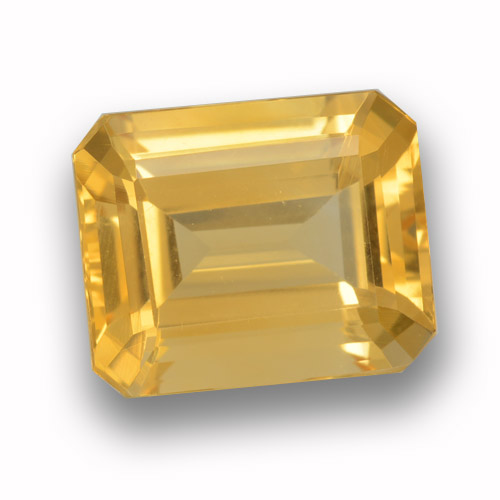 thumb image of 4.1ct Octagon Step Cut Yellow Golden Citrine (ID: 459929)