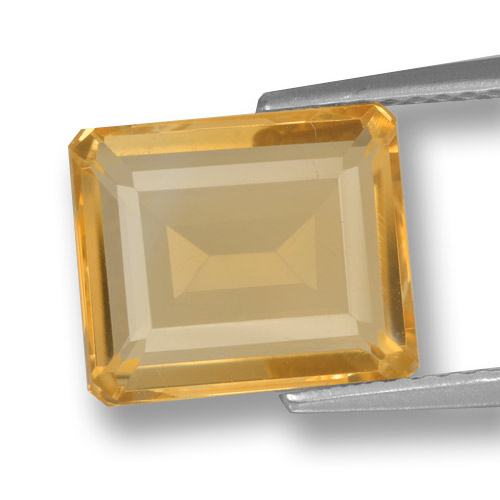 thumb image of 3.8ct Octagon Step Cut Yellow Golden Citrine (ID: )