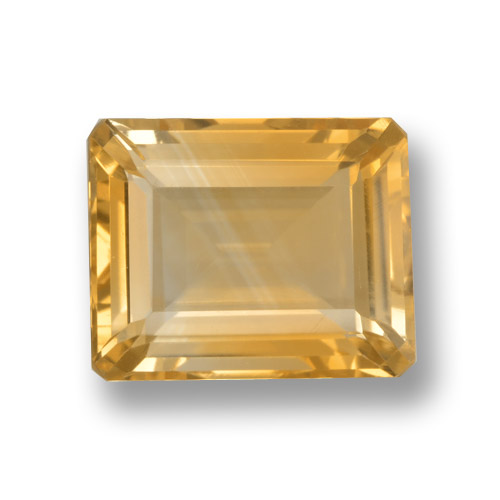 thumb image of 4.2ct Octagon Step Cut Yellow Golden Citrine (ID: 459960)