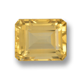 thumb image of 5.6ct Octagon Step Cut Yellow Golden Citrine (ID: 460023)