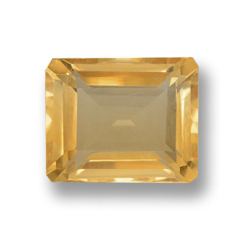 thumb image of 4.3ct Octagon Step Cut Yellow Golden Citrine (ID: 460025)
