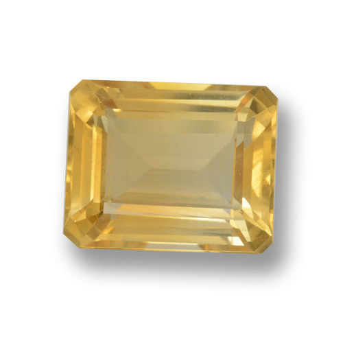 thumb image of 4.3ct Octagon Step Cut Yellow Golden Citrine (ID: 460032)