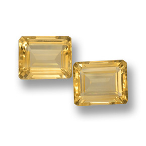 thumb image of 8ct Octagon Step Cut Yellow Golden Citrine (ID: 460064)