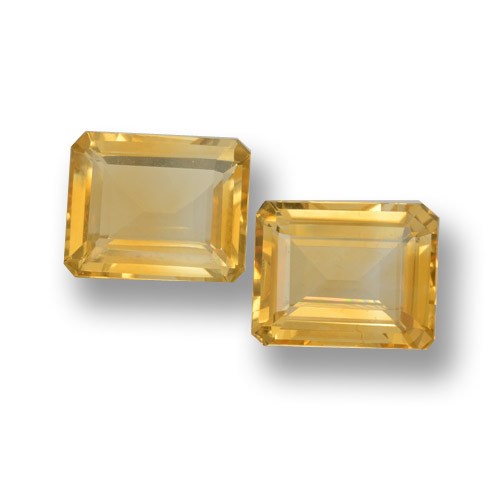 Yellow Golden Citrine Gem - 3.6ct Octagon Step Cut (ID: 460065)