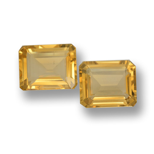 Yellow Golden Citrine Gem - 3.6ct Octagon Step Cut (ID: 460068)