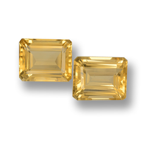 Yellow Golden Citrine Gem - 4.3ct Octagon Step Cut (ID: 460069)