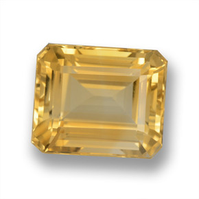 Light Orange-Gold Citrina Gema - 6.8ct Corte octagonal (ID: 460625)