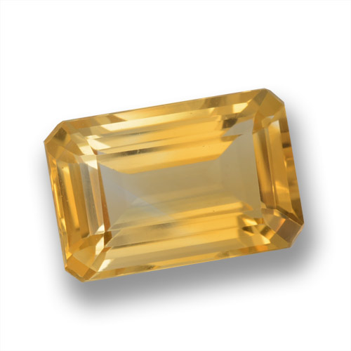 Orange-Gold Citrina Gema - 3.8ct Corte octagonal (ID: 460928)
