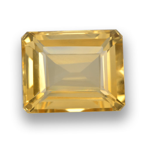 Orange-Gold Citrino Gem - 4.4ct Taglio ottagonale (ID: 460964)