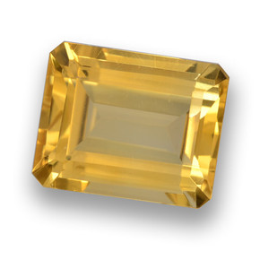 Medium Golden Citrino Gem - 4.1ct Taglio ottagonale (ID: 461032)