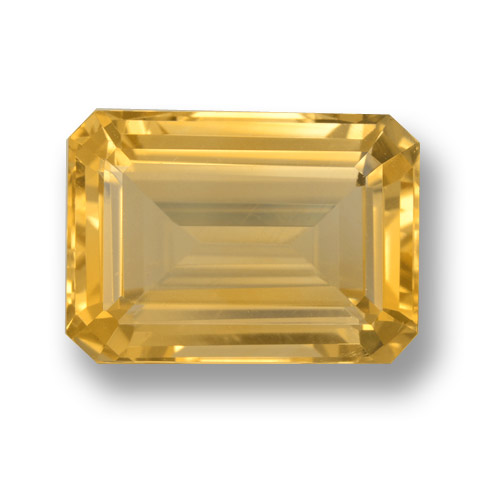 Medium Gold Citrina Gema - 7.5ct Corte octagonal (ID: 461130)