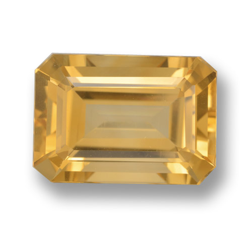 Orange-Gold Citrina Gema - 6.8ct Corte octagonal (ID: 461237)