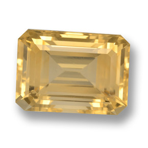 Gold Citrine Gem - 7.9ct Octagon Step Cut (ID: 461241)