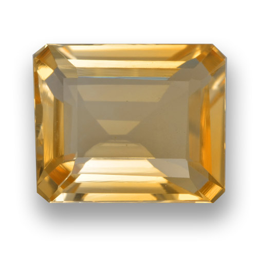thumb image of 3.5ct Octagon Step Cut Yellow Golden Citrine (ID: 461278)