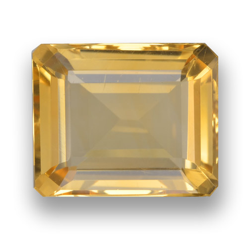 thumb image of 3.9ct Octagon Step Cut Yellow Golden Citrine (ID: 461285)